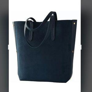 ULTA Beauty Navy Blue Faux Suede Tote Bag